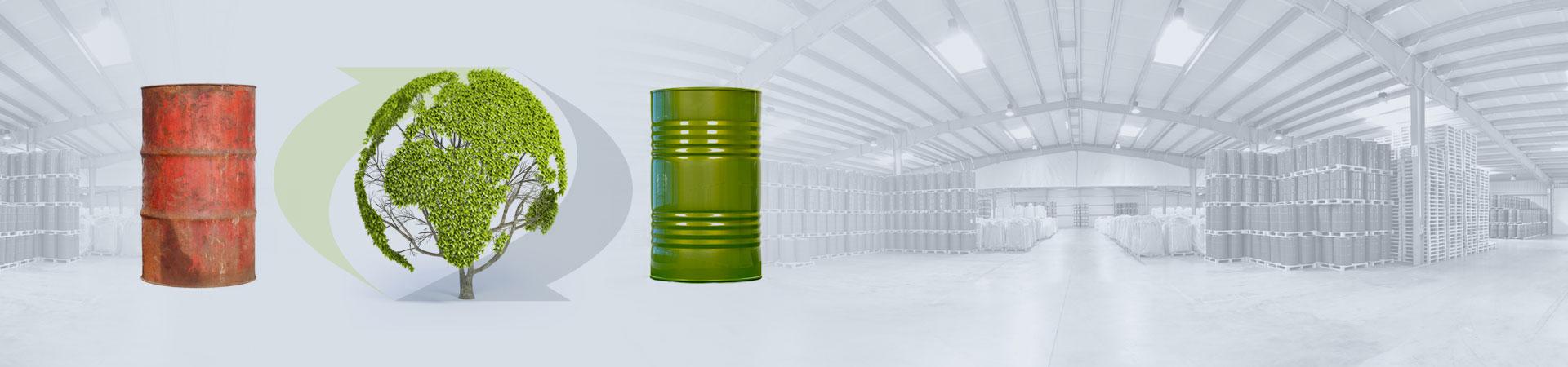recykling beczki stalowej